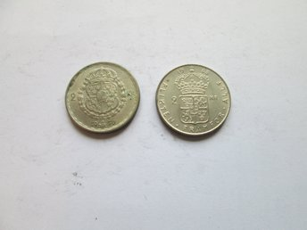 Parti med 2 st 2-kronor 1950-1965
