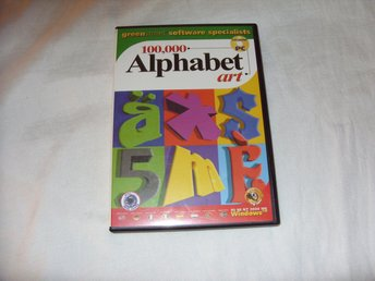 100.000 Alphabet Art Clipart CD ROM för PC och Windows