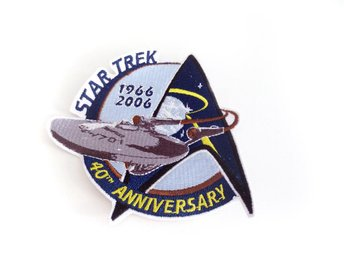 STAR TREK / 40th Anniversary – Patch Broderat Märke