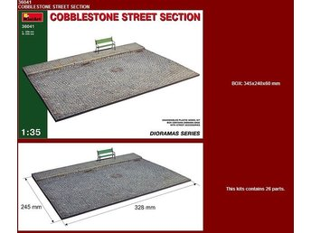 Miniart 1/35 Cobblestone Street Section