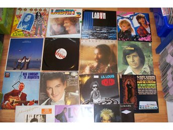15 LP, Liberace, David Lindley, Laban, Johnny Logan  m fl