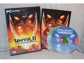 Unreal II 2 The Awakening (PC CD) Komplett Fint Skick