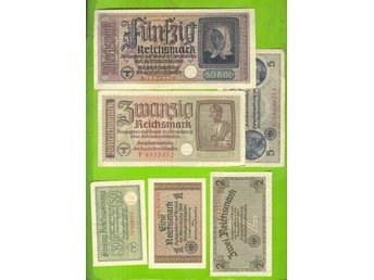 Germany Reichsmark ca 1942 Russia Latvia Lihuania Estonia WWII SETx6ex 7487