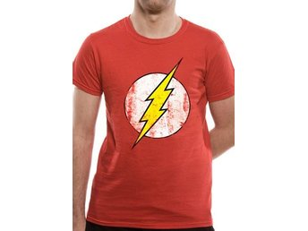 THE FLASH - DISTRESSED LOGO (UNISEX) - 5Extra Large