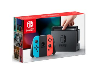 Nintendo Switch Basenhet - Red/blue