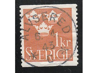 F294 1 Kr orange Älvsered 6. 4. 43