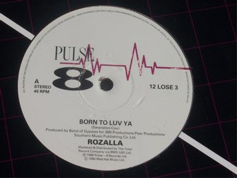 "ROZALLA - BORN TO LUV YA 12"" 1990"