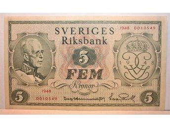 SVERIGES RIKSBANK JUBILEUMS 5 KRONOR 1948 - Skara - SVERIGES RIKSBANK JUBILEUMS 5 KRONOR 1948 - Skara