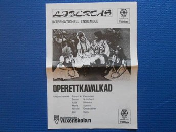 Program Libertas internationell ensemble Operettkavalkad