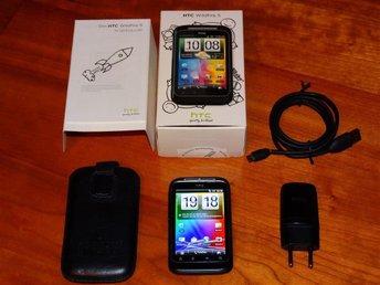 HTC Wildfire S olåst, 5 Megapix kamera, radio, internet, WiFi, väska NYskick - Dalstorp - HTC Wildfire S olåst, 5 Megapix kamera, radio, internet, WiFi, väska NYskick - Dalstorp