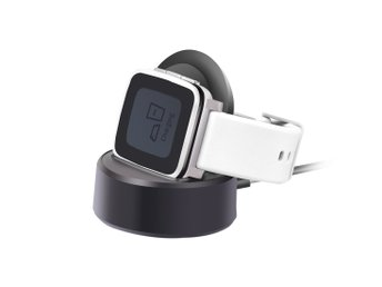 Laddstation Pebble Time Steel med laddkabel