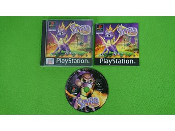 Spyro The Dragon SVENSK UTGÅVA KOMPLETT Playstation 1 PSone ps1