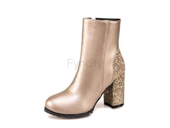 Dam Boots Fashion Concise Shoes Footwear Gold 36