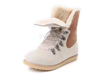 Dam Boots For Women Cross Tied Flat Winter Botas Beige 37