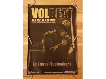 "VOLBEAT PROMOAFFISCH PLANSCH ""GUITAR GANGSTERS AND CADILLAC BLOOD"" 59X41.5CM"