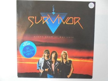 VINYLSINGEL. SURVIVOR . DIDN'T KNOW IT WAS LOVE / RHYTHM OF THE CITY.  BLÅ VINYL