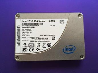 """60GB Intel 330 Series 2,5"""" SATA SSD (6Gb/s) - Johanneshov - 60GB Intel 330 Series 2,5"""" SATA SSD (6Gb/s) - Johanneshov"""