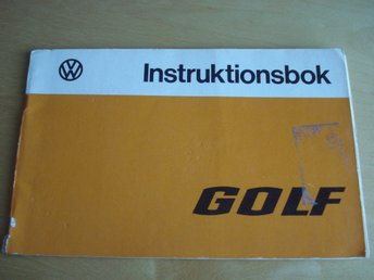 VW Golf 1975 instruktionsbok
