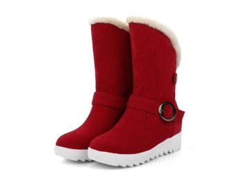 Dam Boots Shoes Footwear Botas Mujer Size34-43 Red 36