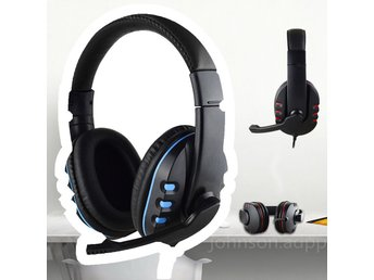 Gaming Spel Headset Mic Stereo Surround Headphone 3.5mm För PS4 Xbox PC Tablet