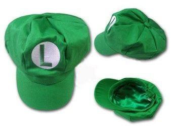 New super mario bros Luigi cosplay keps cap hat