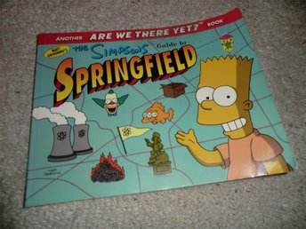 simpsons guide to springfield 1998 rikt illustrerad julklapp