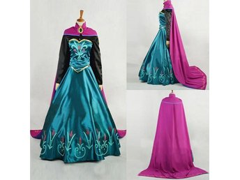 Princess Frozen Anna Snow Costume Cosplay Adult Lady stl S