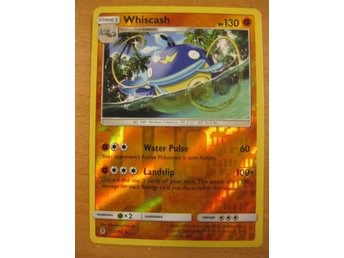 WHISCASH - RARE REVERSE HOLO - POKEMON GUARDIANS RISING 71/145