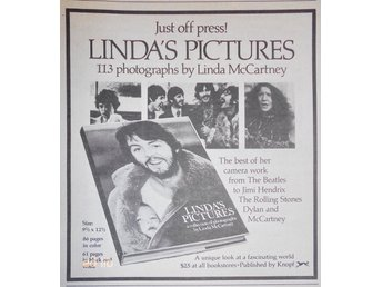 LINDA McCARTNEY (BEATLES) - LINDA'S PICTURES, TIDNINGSANNONS 1976