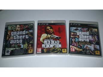 - 3-Pack Rockstar Spel GTA Red Dead Redemption Episodes from Liberty PS3 -