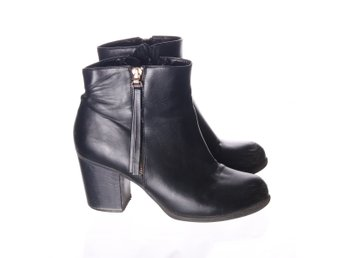 Alley, Boots, Strl: 38, Svart, Skinnimitation