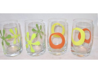 Glas Boda Nova PLAY/HAPPY Barbro Wesslander GRÖN/GUL/ORANGE FINA