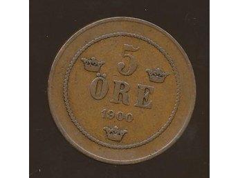 1900 5 öre Oskar II se bild - Västra Frölunda - 1900 5 öre Oskar II se bild - Västra Frölunda