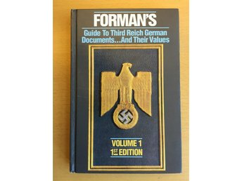 Bok: Forman's Price Guide to Third Reich German Documents