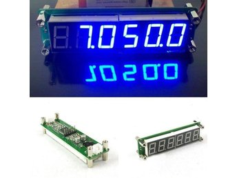 Blue 0.1-60MHz 20MHz ~ 2.4GHz RF Singal Frequency Counter Cymometer