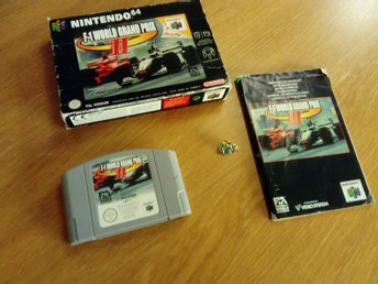 N64 spel, F1 world grand prix 2 ink låda och manual + N64 nål, LÅGT UTROP!