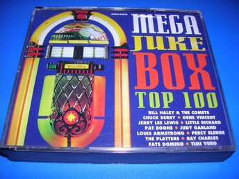 MEGA JUKE BOX - top 100 - 4 cd -valens,sedaka,domino - (cd)