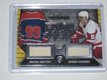 2015-16 Wayne Gretzky / Fedorov StickWork FACE OFF Silver Leaf In The Game 22/40 - Tingsryd - 2015-16 Wayne Gretzky / Fedorov StickWork FACE OFF Silver Leaf In The Game 22/40 - Tingsryd