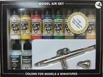 Vallejo Model Air Basic Colors 10 Colors + Airbrush Ultra H.S