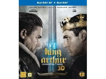 King Arthur: Legend of The Sword 3D + Vanlig BluRay * Inplastad *