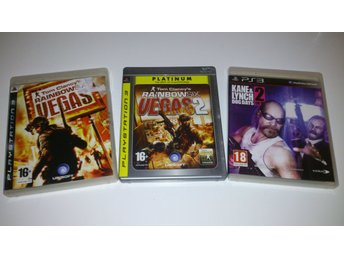 - 3-Pack Shooter Kane & Lynch 2 Rainbow Six Vegas 1+2 #REA!# PS3 -