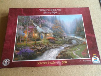 PUSSEL 500 BITAR.  EN VÅRNATT. THOMAS KINKADE. PAINTER OF LIGHT. FINT. SCHMIDT