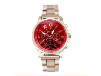 Klocka Herr Roman Number Stainless Steel Red