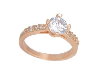 Newest 1pc 18K gold Plated Clear CZ Cubic Zirconia Ring