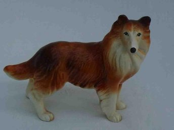"Vintage Melba Ware Porcelain Figure of a Collie ""Lassie"" Dog."