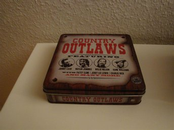 Country Outlaws 3 cd-skivor i plåtask