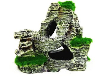 Mountain View Aquarium Rockery Gömma Cave Tree Fish Tank Decoration F416B