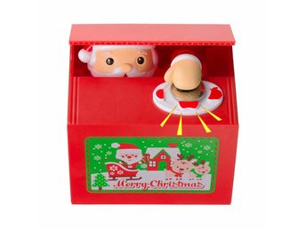 Stealing Coin Santa Money Bank Piggy Bank Coin Bank as Christmas Gift