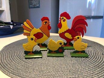 kycklingar med stora tuppar