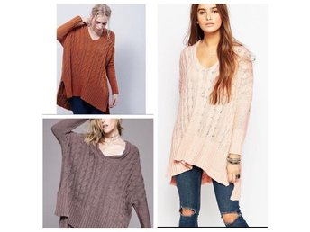 Free People Easy Cable V neck Pullover - Kungsbacka - Free People Easy Cable V neck Pullover - Kungsbacka